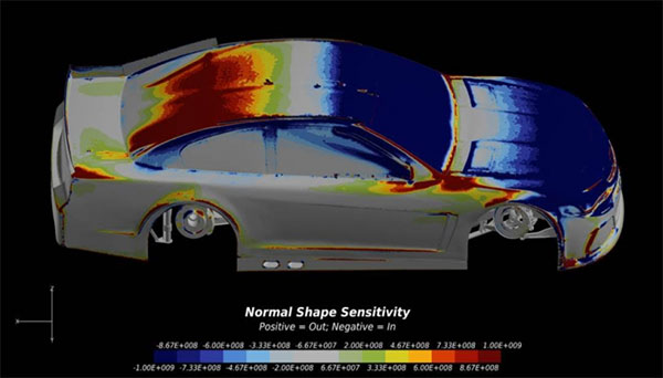 ANSYS CFD on the Rescale cloud platform can accommodate large, full-car simulation models. Image Courtesy of ANSYS.