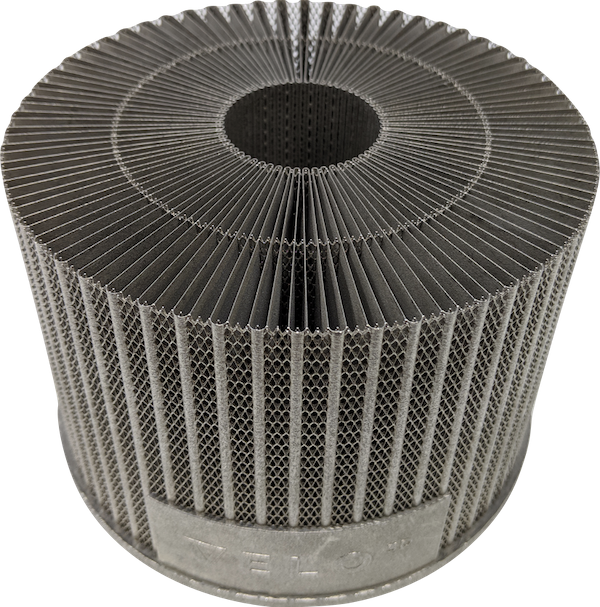 Sapphire's laser powder bed fusion metal 3D printer is designed from the ground up for high-volume manufacturing of geometrically-complex parts. Image Courtesy of VELO3D