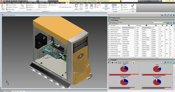 EcoDesigner, Now Available for Autodesk Inventor - Digital